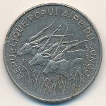 Конго, 100 франков (1975 г.)