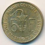 Западная Африка, 5 франков (1975 г.)