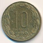 Центральная Африка, 10 франков (1983 г.)