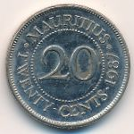 Маврикий, 20 центов (1987 г.)