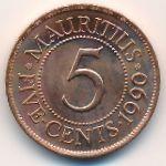 Маврикий, 5 центов (1990 г.)