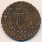 Каталония, 6 кварто (1846 г.)
