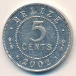 Белиз, 5 центов (2002 г.)