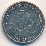 Восточные Карибы, 10 центов (2000 г.)