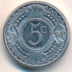Антильские острова, 5 центов (1998 г.)