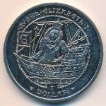Виргинские острова, 1 доллар (2008 г.)