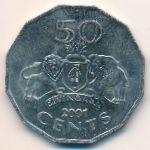 Свазиленд, 50 центов (1998–2001 г.)