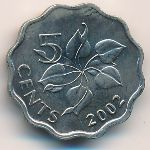 Свазиленд, 5 центов (2002 г.)