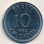 Бразилия, 10 крузадо (1988 г.)