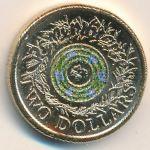 Австралия, 2 доллара (2017 г.)