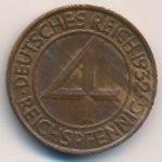 Веймарская республика, 4 рейхспфеннига (1932 г.)