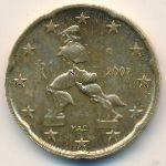 Италия, 20 евроцентов (2002 г.)