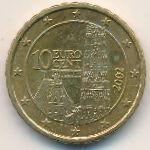 Австрия, 10 евроцентов (2002 г.)