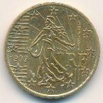Франция, 10 евроцентов (1999–2001 г.)