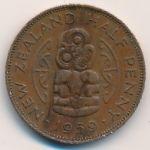 Новая Зеландия, 1/2 пенни (1959–1964 г.)