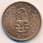 Новая Зеландия, 1/2 пенни (1958–1965 г.)