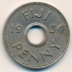 Фиджи, 1 пенни (1934–1936 г.)