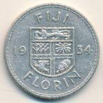 Фиджи, 1 флорин (1934 г.)