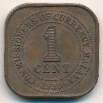 Малайя, 1 цент (1939 г.)