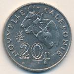 Новая Каледония, 20 франков (2014 г.)
