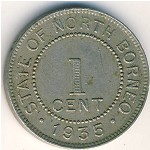 North Borneo, 1 cent, 1904–1941