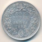 Британская Индия, 1 рупия (1893 г.)