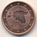 Эстония, 2 евроцента (2011 г.)