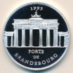 Франция, 100 франков - 15 экю (1993 г.)