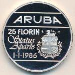Аруба, 25 флоринов (1986 г.)