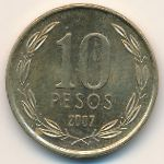 Чили, 10 песо (2007 г.)