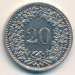 Швейцария, 20 раппенов (1894–1920 г.)