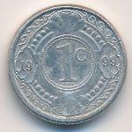 Антильские острова, 1 цент (1993–2003 г.)