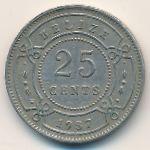 Белиз, 25 центов (1987 г.)