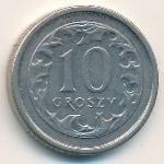 Польша, 10 грошей (2000 г.)