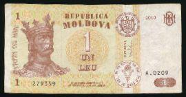 Молдавия, 1 лей (2010 г.)