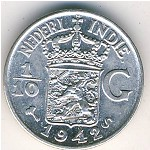 Netherlands East Indies, 1/10 gulden, 1937–1945