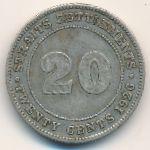 Стрейтс-Сетлментс, 20 центов (1926 г.)