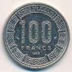 Габон, 100 франков (1985 г.)