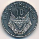 Руанда, 10 франков (1985 г.)