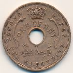 British West Africa, 1 penny, 1956–1958