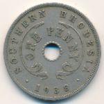 Южная Родезия, 1 пенни (1938 г.)