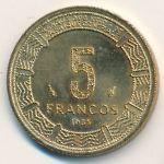 Экваториальная Гвинея, 5 франков (1985 г.)