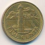 Барбадос, 5 центов (1973 г.)