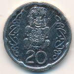 Новая Зеландия, 20 центов (2006 г.)