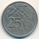 Тринидад и Тобаго, 25 центов (1979–2006 г.)