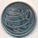 Каймановы острова, 10 центов (2002–2008 г.)
