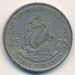 Восточные Карибы, 25 центов (1998 г.)