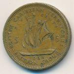 Восточные Карибы, 5 центов (1964 г.)