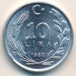 Турция, 10 лир (1984–1987 г.)
