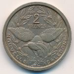 New Caledonia, 2 francs, 1949